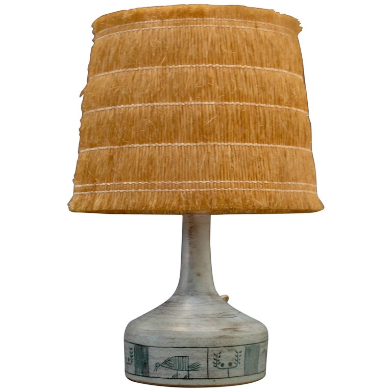 Ceramic lamp by jacques blin with original raffia shade c1950s at ceramic lamp by jacques blin with original raffia shade c1950s for sale mozeypictures Gallery