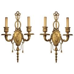 A Pair of E. F. Caldwell Two-Arm Wall Sconces