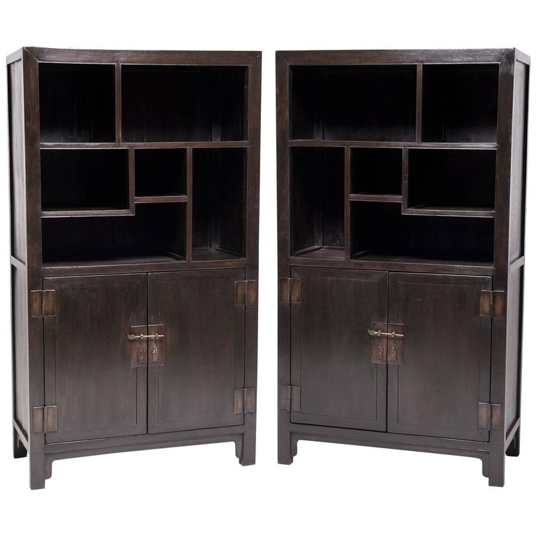Pair of Chinese Collectors' Bookcases