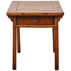 Early 18th Century, Chinese Poplar Square Table