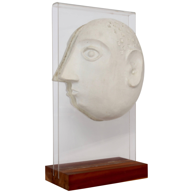 David Gil for Bennington Pottery Male Portrait Ceramic Sculpture, 1960s