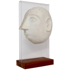 David Gil for Bennington Pottery Male Portrait Ceramic Sculpture, 1960s