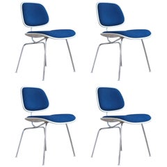 Set of Four EC-127 Dining Chairs by Charles & Ray Eames for Herman Miller