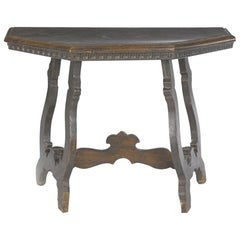 18th Century Spanish Renaissance Style Walnut Side Table