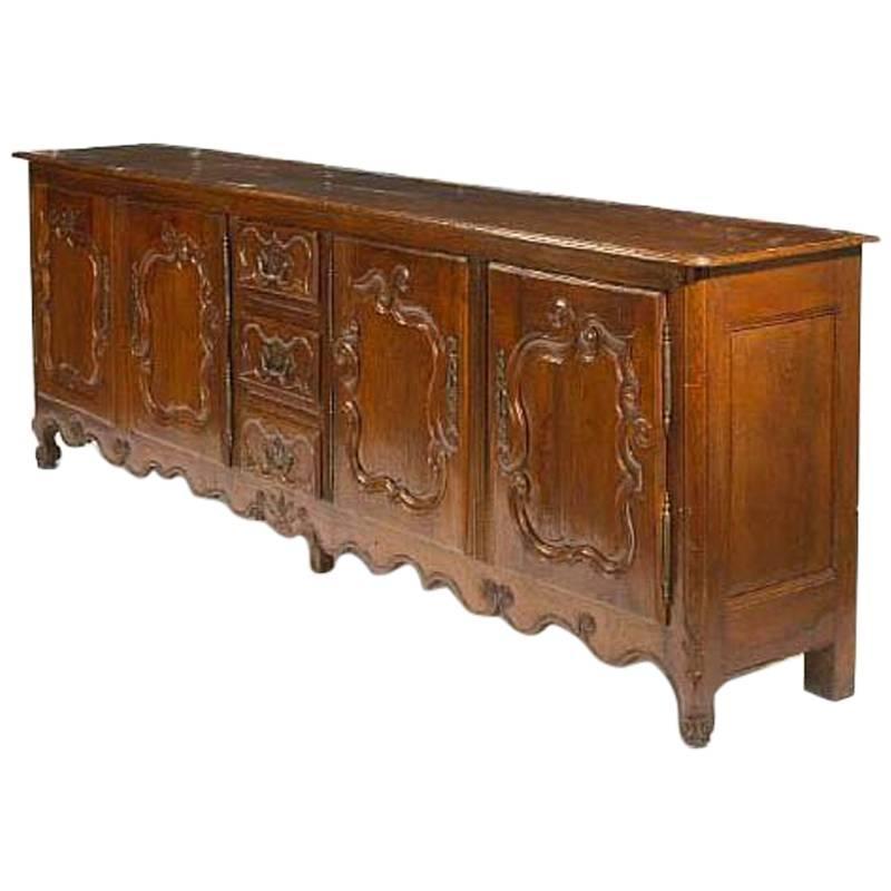 18th Century French Louis XV Oak Buffet