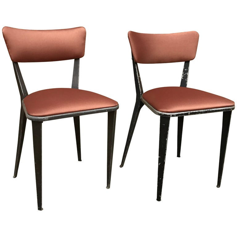"""Cast Aluminium and Vinyl """"BA3"""" Chairs by Ernest Race for Race Furniture"""