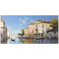 "Antoine Bouvard 'Marc Aldine', ""Summer Morning, Venice"" Oil Painting, 1905"