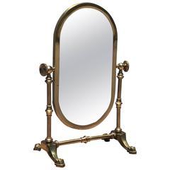 Petit Brass Cheval Vanity Mirror