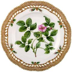 Royal Copenhagen Flora Danica Reticulated Dinner Plate