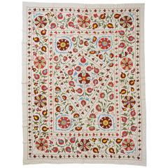 Bestickter Suzani, geeignet als Tischdecke oder Wandbehang, Turkmenistan
