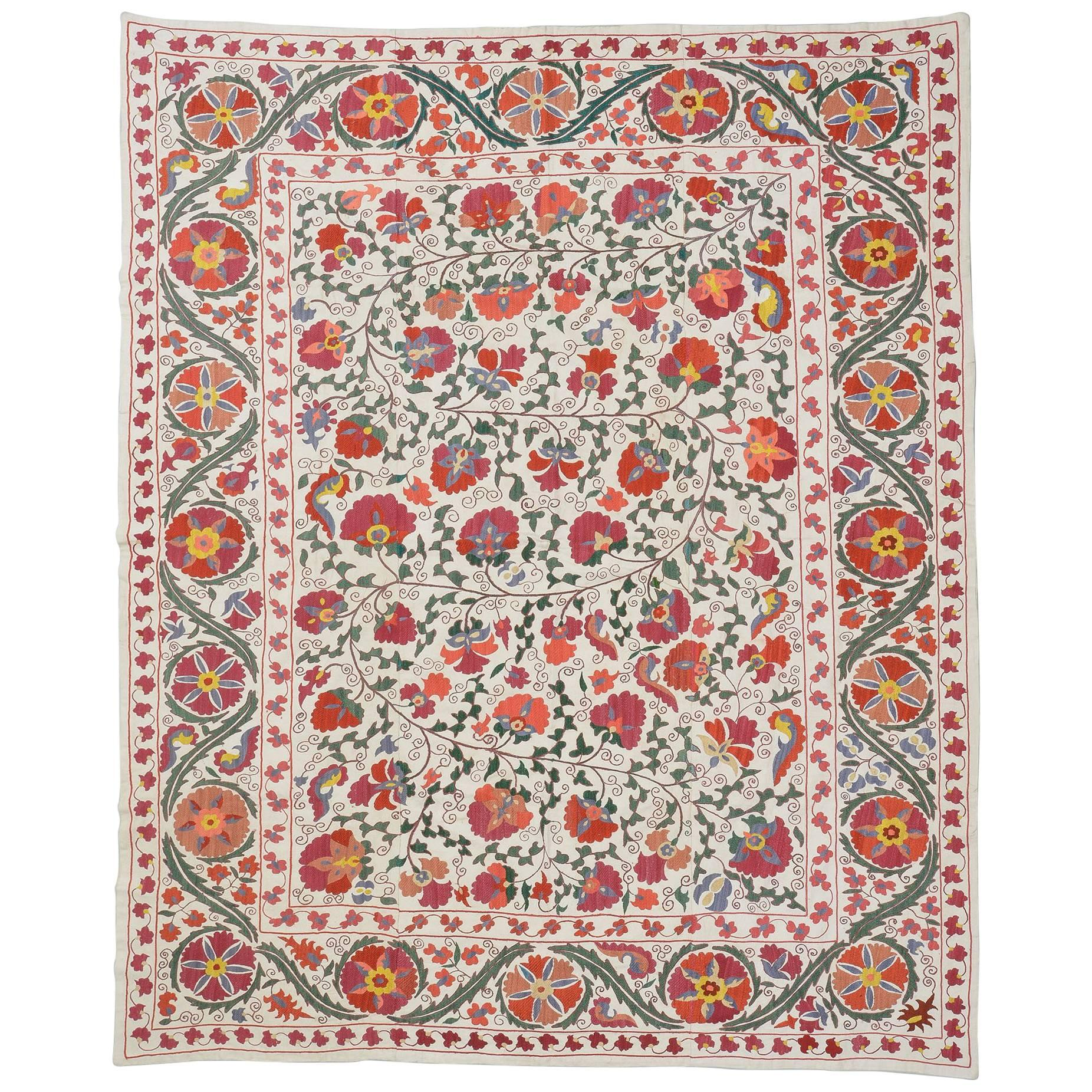 Susani Embroidery, Wall Hanging or Bed Cover or Table Cover