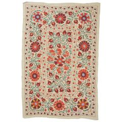 Suzani Fine Embroidery, Suitable for Bed or Table Cover or Wall hanging
