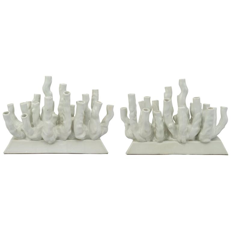 """Coral Reef""  Porcelain Vases or Centerpiece"