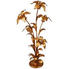 Hans Kogl Floor Lamp with Five Flowers and Light Bulbs