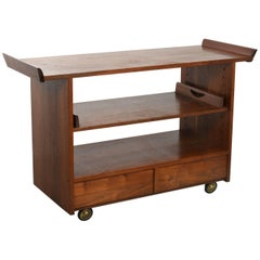 George Nakashima Tea or Bar Cart in Walnut, 1965