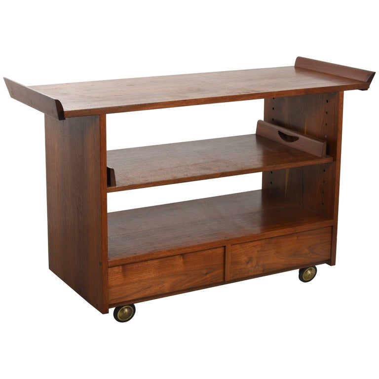 George Nakashima Tea or Bar Cart in Walnut, 1965 For Sale