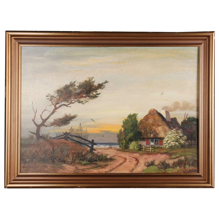 Rural Panorama Painting by Bruno Bielefeld For Sale