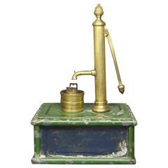 19th Century Miniature Model Victorian Toy Water Pump Folk Art
