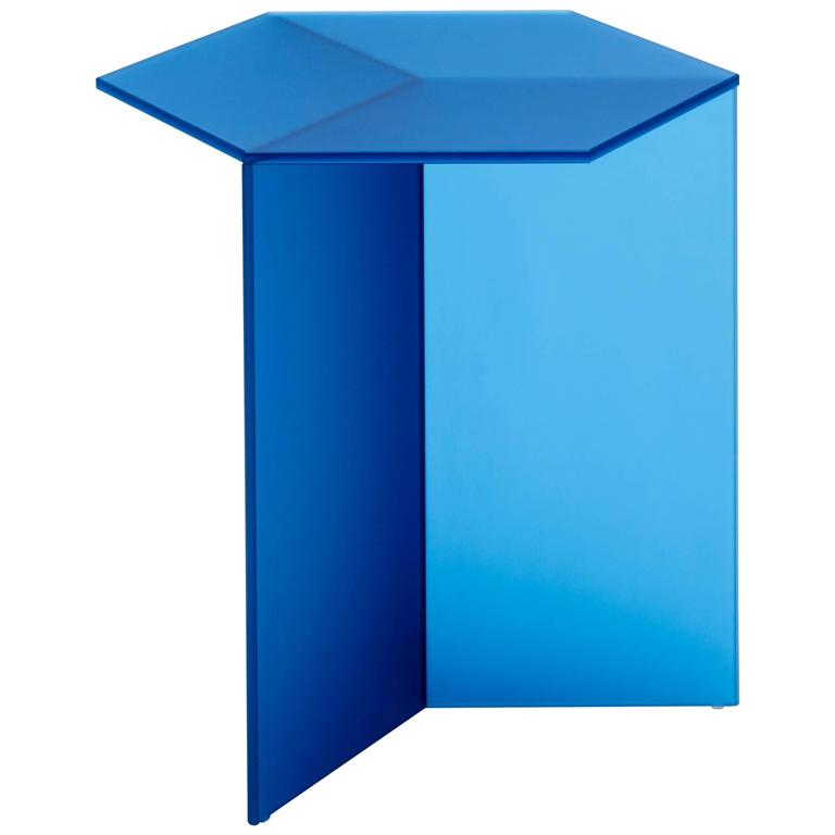 isom tall blue side table by sebastian scherer for neo craft made in germany 1