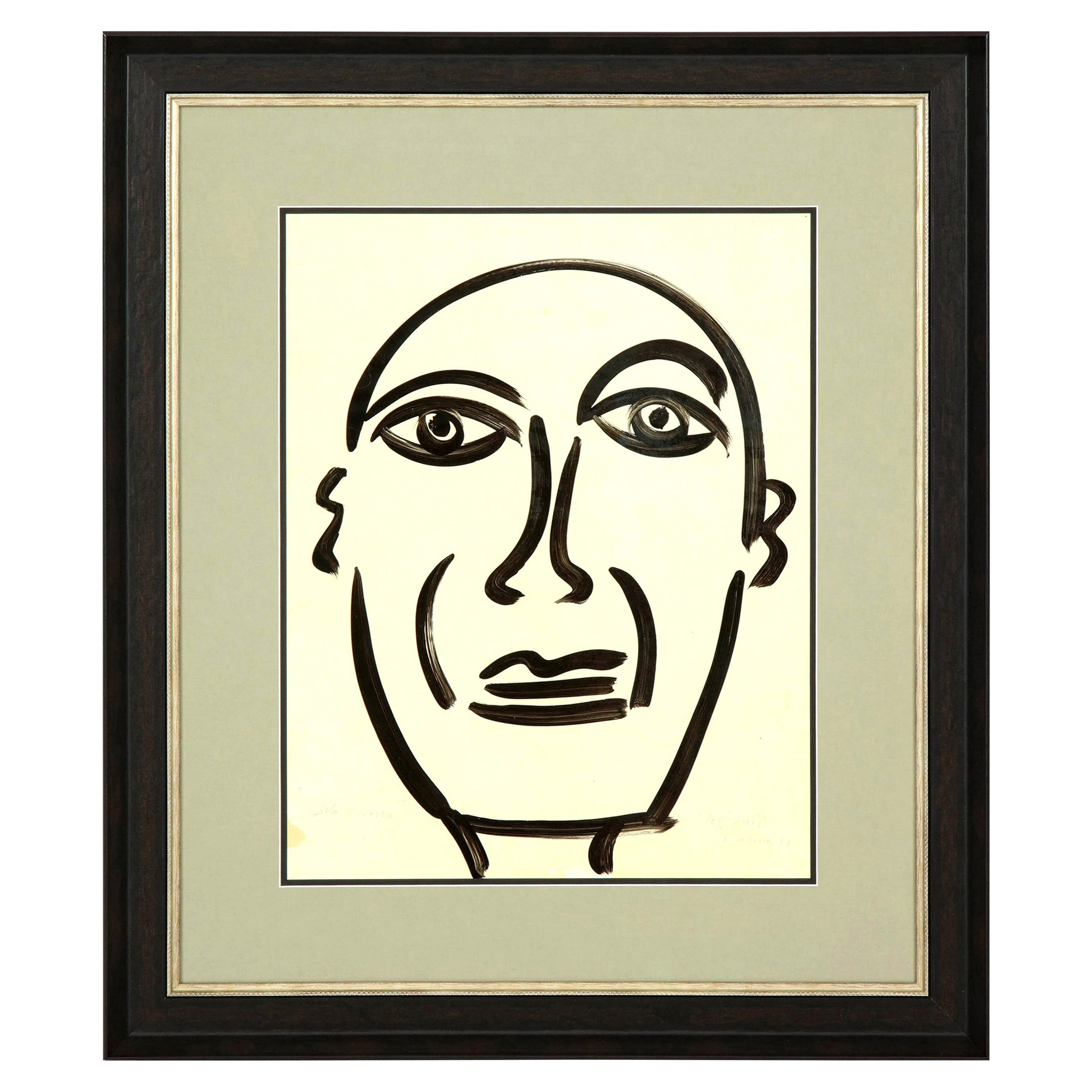 "Painting by Peter Keil, Midcentury Modern Art, circa 1959, Modern Art, ""Picasso"""