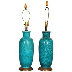Pair of Italian Ceramic Lamps