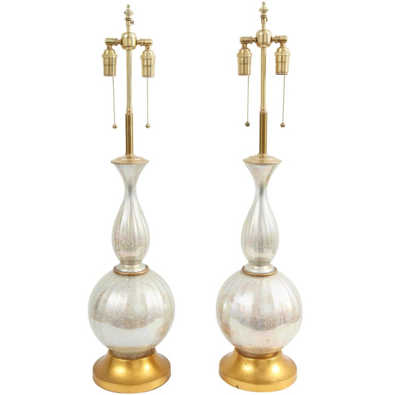 Pair of Robin's Egg Ceramic Lamps