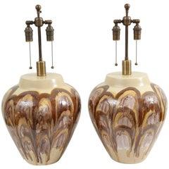 Pair of 1960s Ceramic Lamps