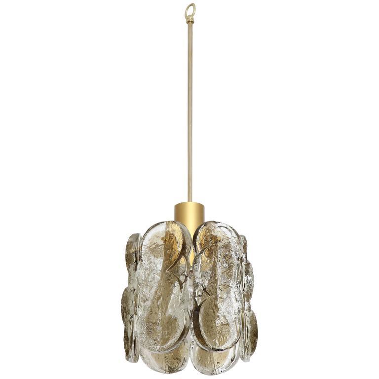 Swirl Glass Pendant Chandelier by Kalmar
