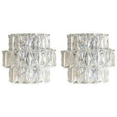 Three-Tier Kinkeldey Crystal Sconces