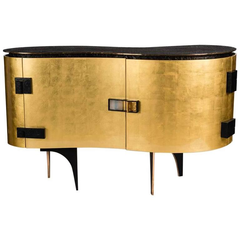 "Achille Salvagni, ""Silk Gold"", Cabinet, Italy, 2015 For Sale"
