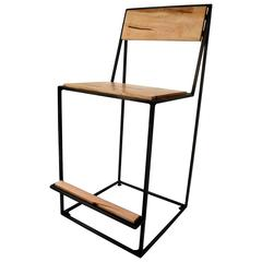 Archetype Chair, Counter Height, Contemporary Modern, Steel and Wood