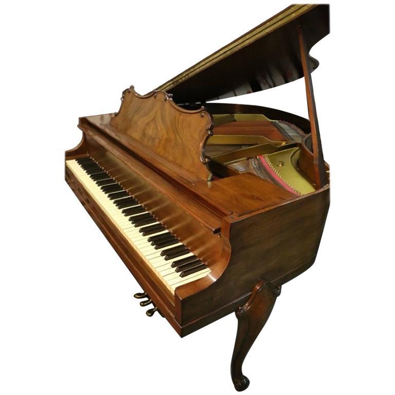 Art Case La Petite Baby Grand Walnut by Winter Piano Company Refin./Refurb 1