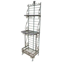 Wrought Iron and Brass Baker's Rack