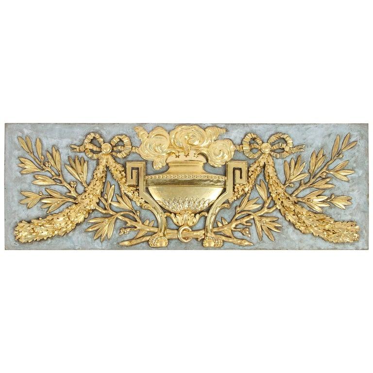 19th Century Italian Carved Giltwood Overdoor