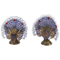 1900s Pair of French Pheasant Lights