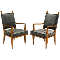 Lucien Rollin, Pair of Armchairs, France, 1940