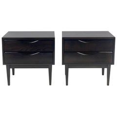 Pair of Mid-Century Modern Nightstands in Ultra Deep Brown