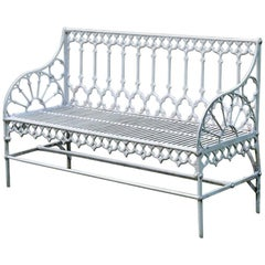 Cast Iron Gothic Bench