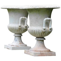 Cast-Iron Campana Form Urns