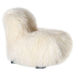 Botolo Low Chair by Cini Boeri, Contemporary Fur Covered Chair