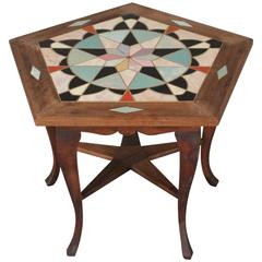Spanish Revival California Tile Table with Star Motif