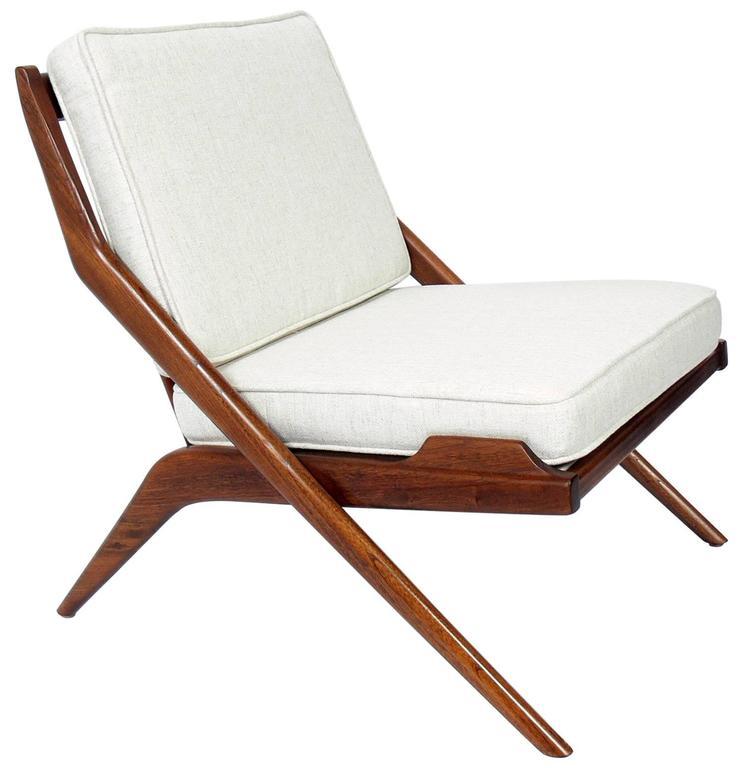 Danish Modern Scissor Lounge Chair