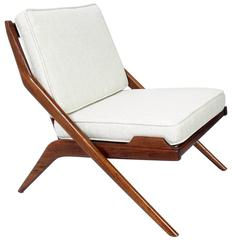 Danish Modern Scissor Lounge Chair