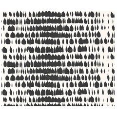 Schumacher Queen of Spain Midcentury Print Black White Wallpaper