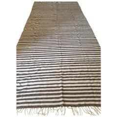 Moroccan Flat-Weave Textile Blanket or Rug