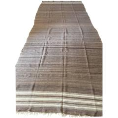 Moroccan Vintage Flat-Weave Brown Textile