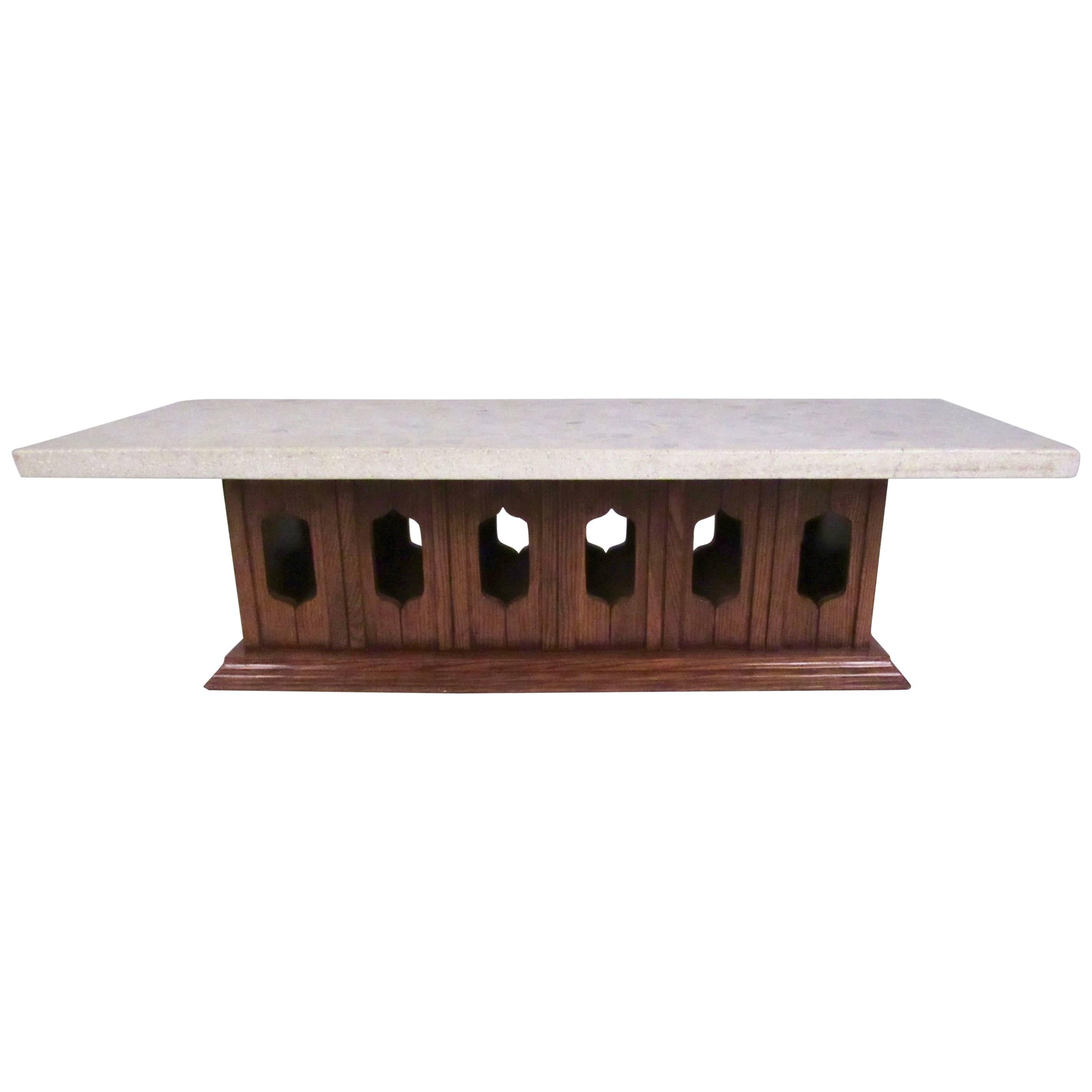 Vintage Modern Terrazzo Top Coffee Table