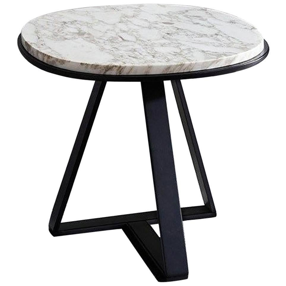 Meridiani Judd Marble Round Side Table For Sale at 1stdibs