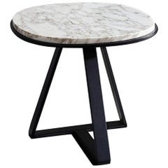 Meridiani Judd Marble Round Side Table
