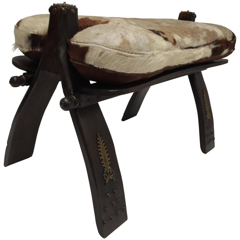 Vintage Moroccan Camel Saddle Stool At 1stdibs
